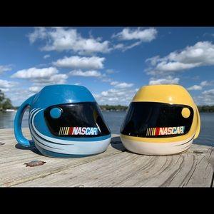 Vintage NASCAR Mug Set